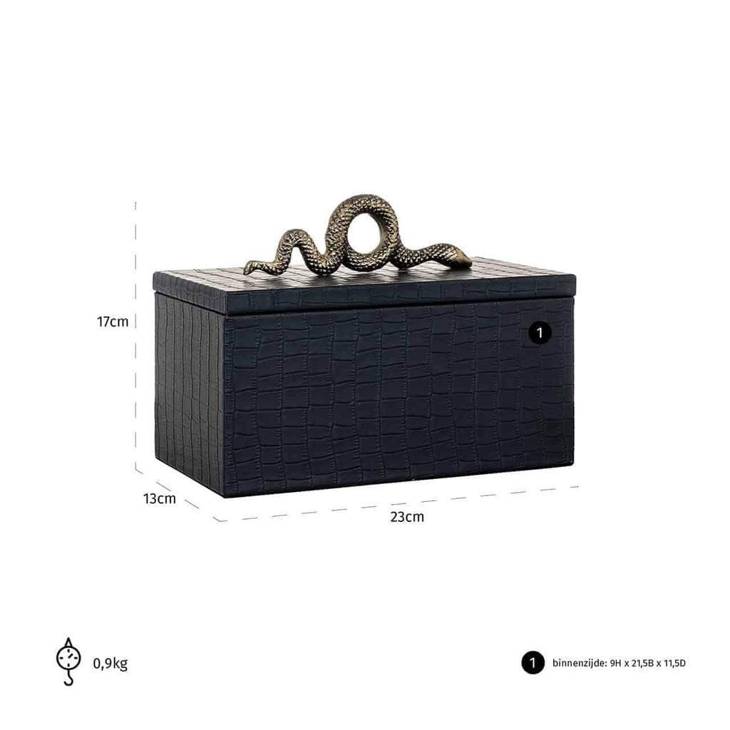 Luxe Juwelen box Charly Snake - Zwart | Richmond Interiors