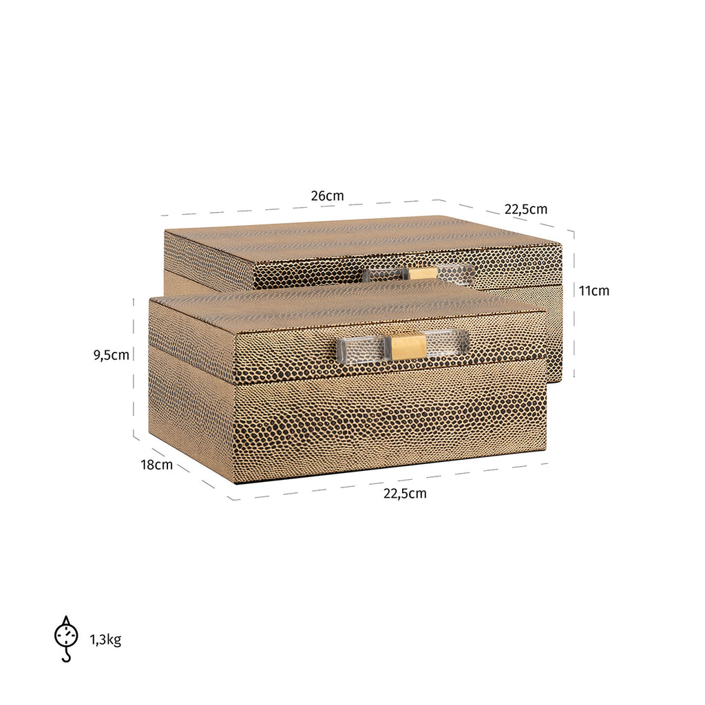 Luxe Juwelenbox Balou - Set van 2 | Richmond Interiors