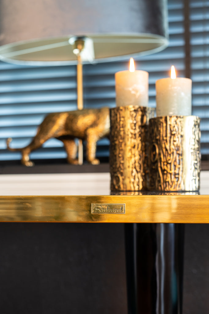 Ronde Kandelaar Alba groot - Brons | Richmond Interiors