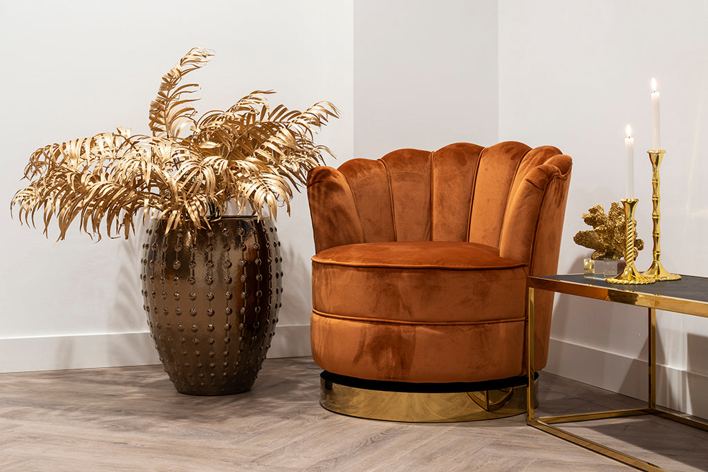 Ronde Draaifauteuil Mila - Velours | Richmond Interiors