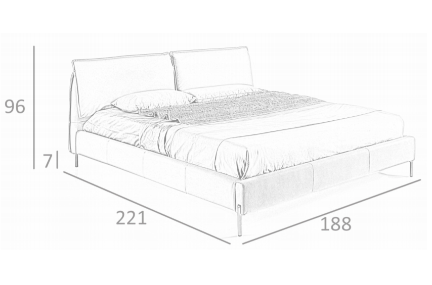 Beige kunstlederen tweepersoons Bed Zone | Angel Cerda