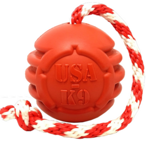 Soda Pup Stars & Stripes | Tug & Fetch Toy with Rope