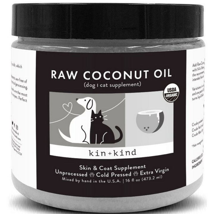 RAW COCONUT OIL (SKIN AND COAT SUPPLEMENT FOR DOGS AND CATS)
