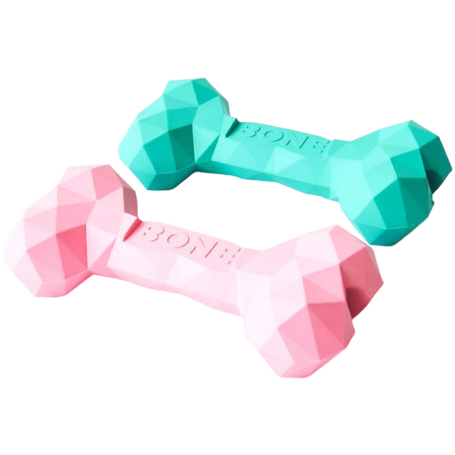 Geo Bone | Treat Dispensing Rubber Chew Toy