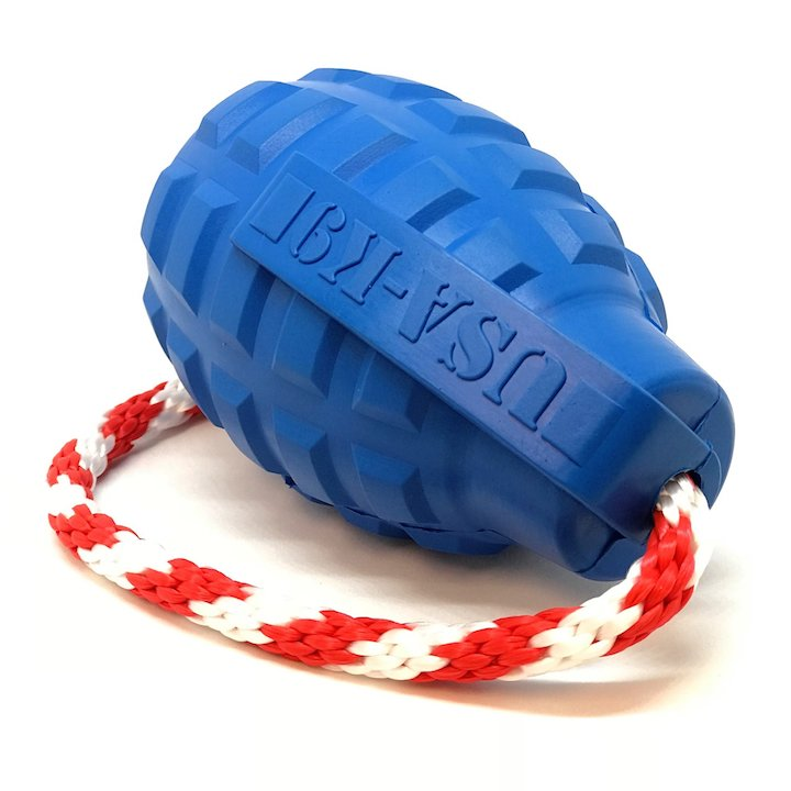 USA k9 Blue Grenade Tug & Treat with Rope