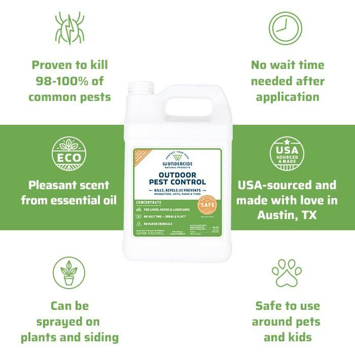 Wondercide | Organic Masquito, Flea & Tick Killer for Yard + Garden