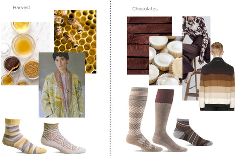 Color inspiration: harvest and chocolates