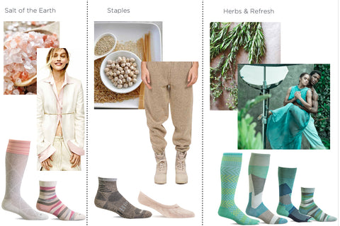 Color inspiration: salt of the earth, staples, herbs and refresh