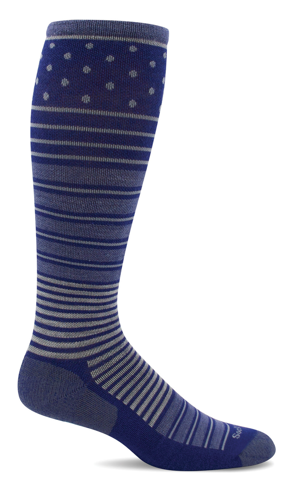 Women's Twister Firm Merino Wool Compression Socks in Hyacinth