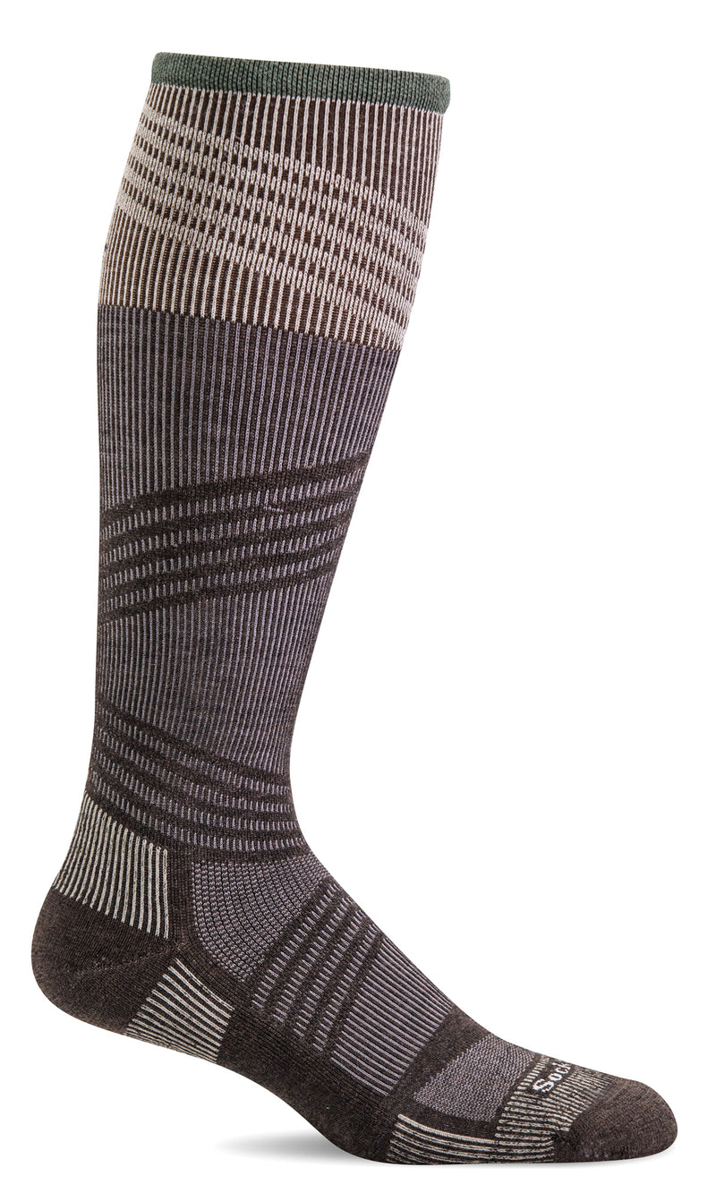 Sockwell Men's Summit II OTC Merino Wool Outdoor Hiking Sock | Espresso