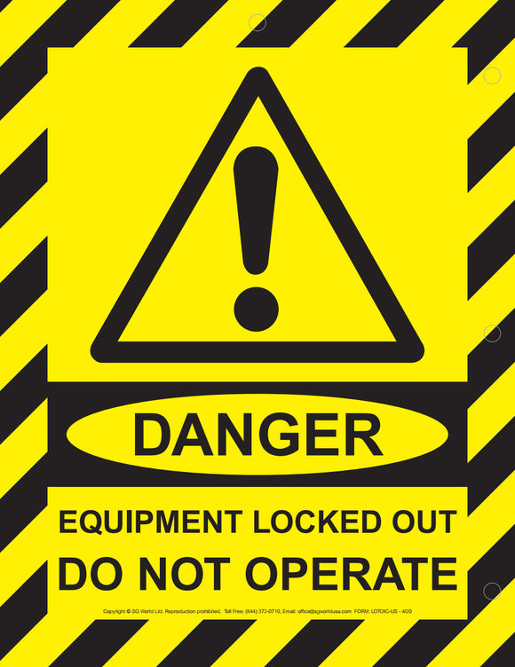 Equipment Locked Out Magnetic Signs