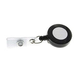 Black Retractable Badge Reel (per Pack of 5)