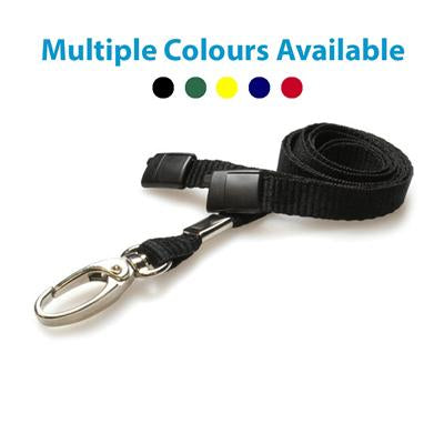 Lanyard with Safety Breakaway and Metal Hook (per Pack of 5)