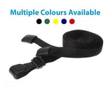 Lanyard with Safety Breakaway and Plastic Hook (per Pack of 5)