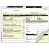 Hazardous Substances Work Permit: Pack of 5