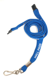Hall Pass Pre-Printed Lanyard (per Pack of 5)