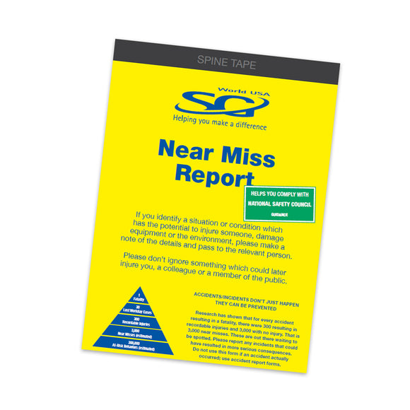 Near Miss Reporting Book