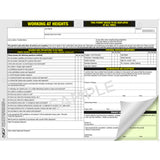 Working at Height Permit: Pack of 5