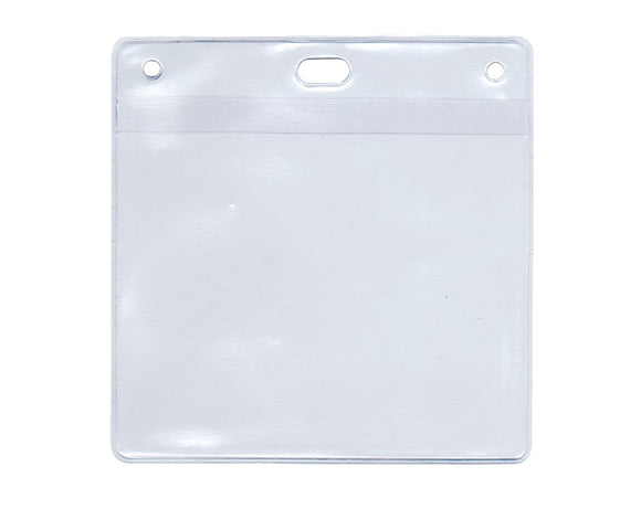 Budget Soft Plastic Pouch for 'BOOK & BADGE' Visitor Pass (per Pack of 10)