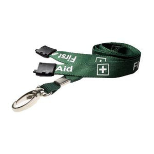 First Aider Pre-Printed Lanyard (per Pack of 5)