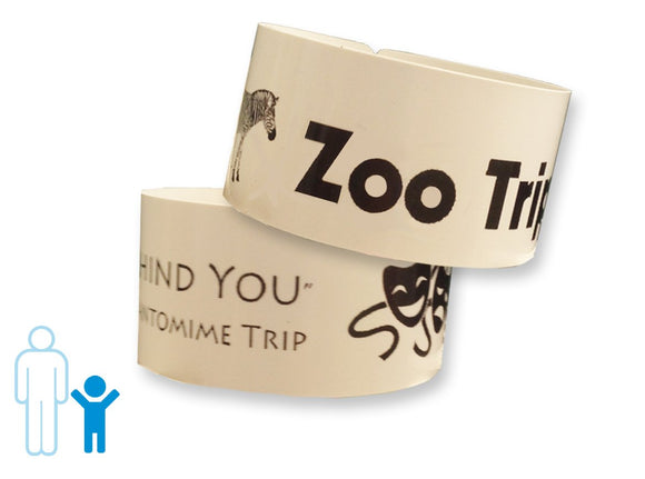 Zebra HC100 Child Wristband Cartridge: White Wristbands (Single Cartridge)