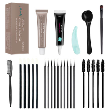Brown Lash and Eyebrow Lift Tint Dye Kit Lasting 8 Weeks for Professional Eyebrow or Lash Tinting Libeauty