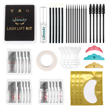 Lash Lift Kit Eyelash Perm Sachet Disposable Professional Quality Quick Lash Lifting, Semi-Permanent Curling Perming Wave,Lotion & Liquid Set Libeauty