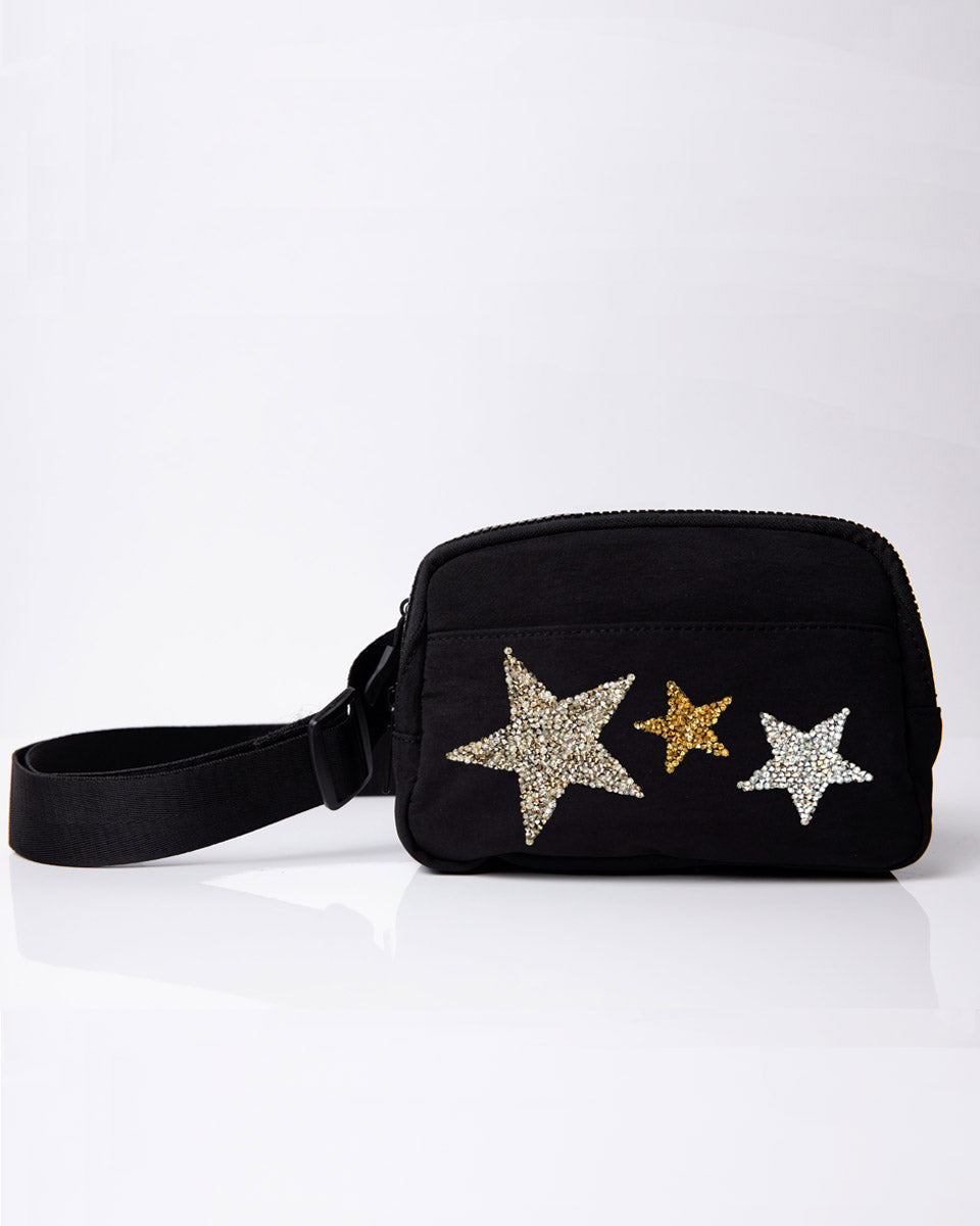 crystal star belt bag