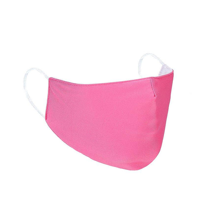 fuschia reusable face mask with filter pocket