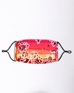 Papaya Ombre Bandana Face Mask