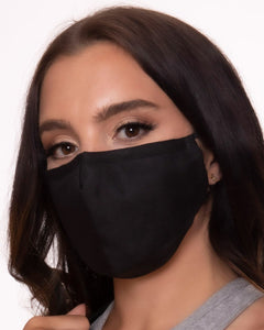 reusable black face mask with filter pocket