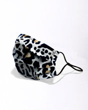 Load image into Gallery viewer, tan leopard reusable face mask with filter pocket
