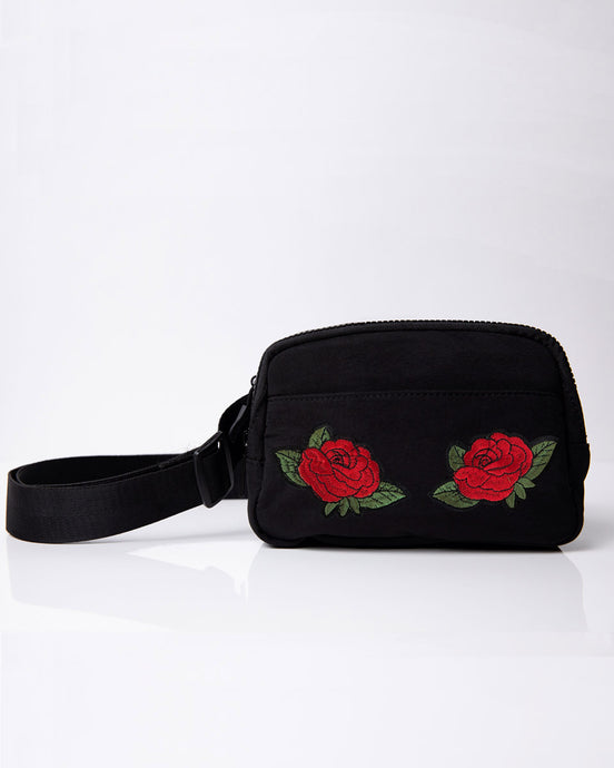 red rose belt bag