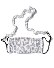 Load image into Gallery viewer, White Makeda Chain & Snow Leopard Mask