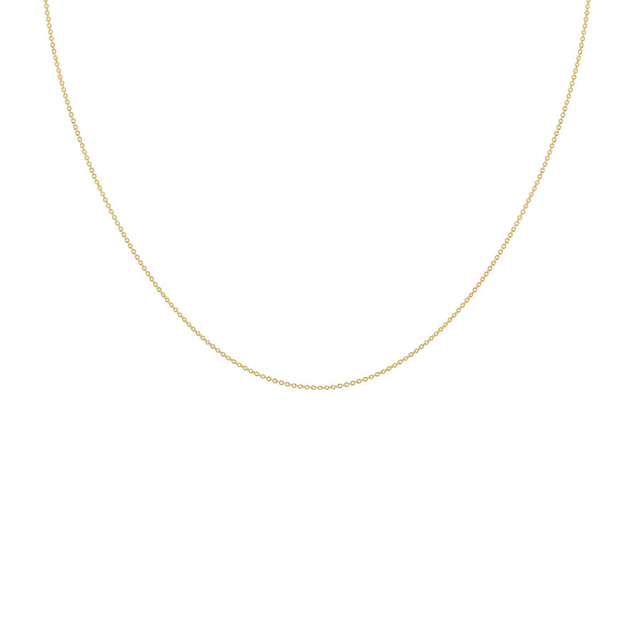 Plain Chain Necklace - 18ct Gold Vermeil