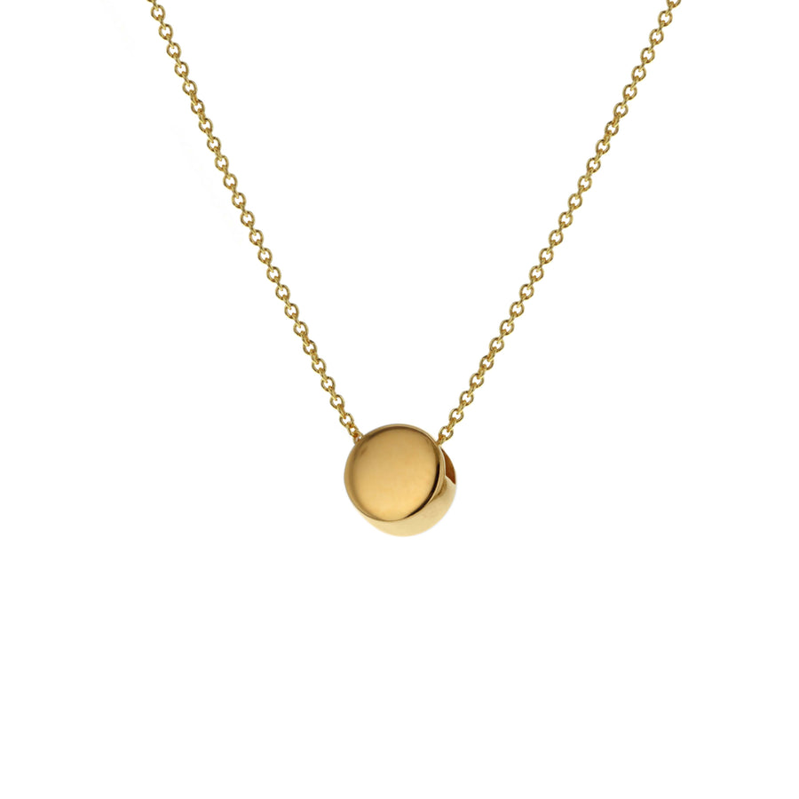 Gold Solid Circle Necklace