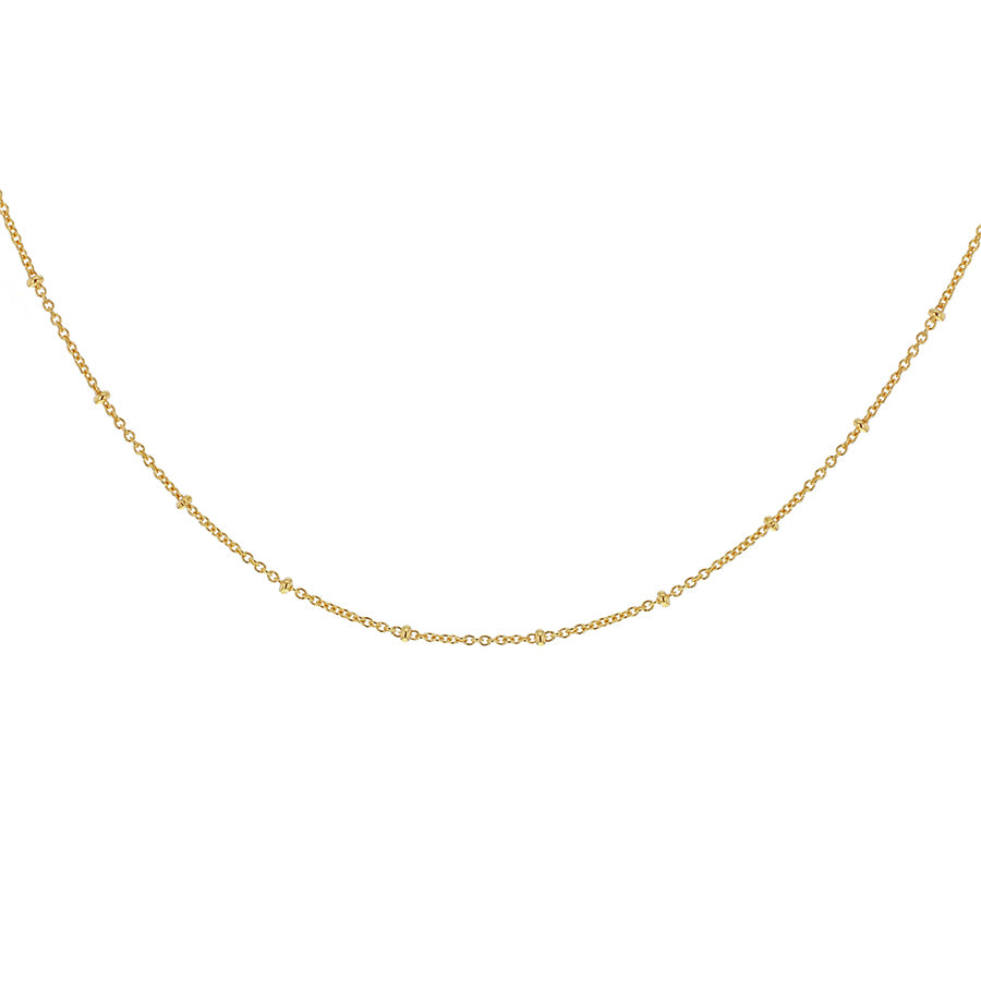 Beaded Chain Necklace - 18ct Gold Vermeil
