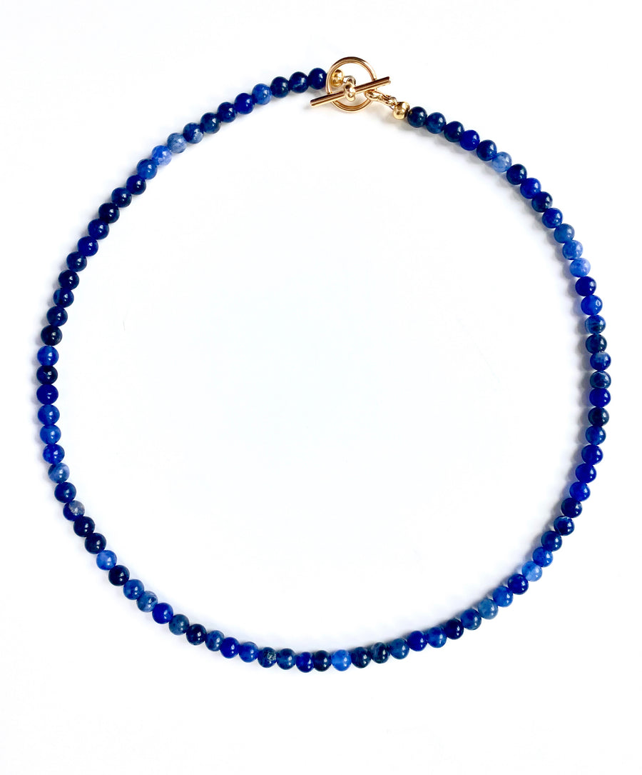 Bead Necklace - Blue Sodalite