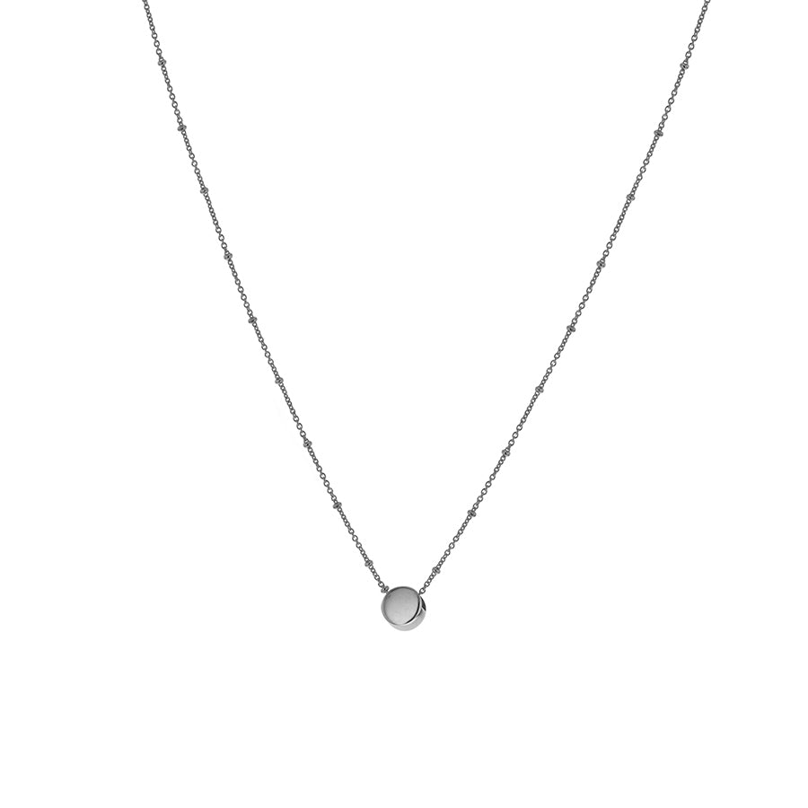 Silver Solid Circle Necklace