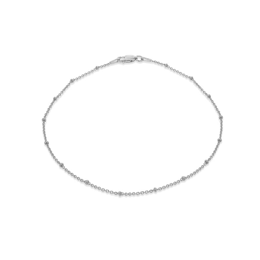 Silver Beaded Anklet