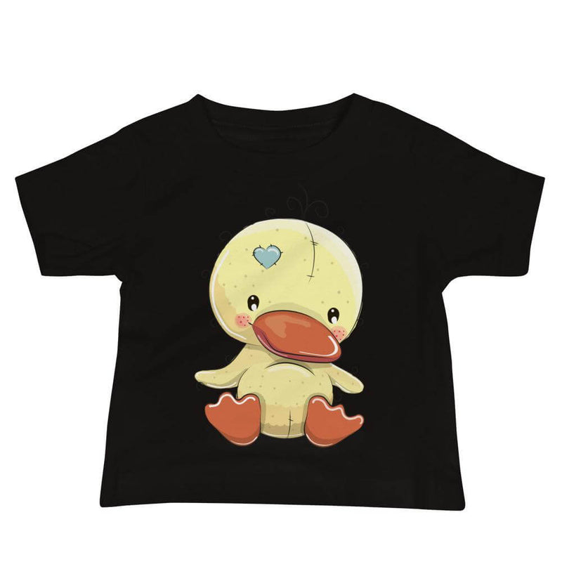Baby's Cute and Cuddly Duckling Crew Neck T-shirt - Black