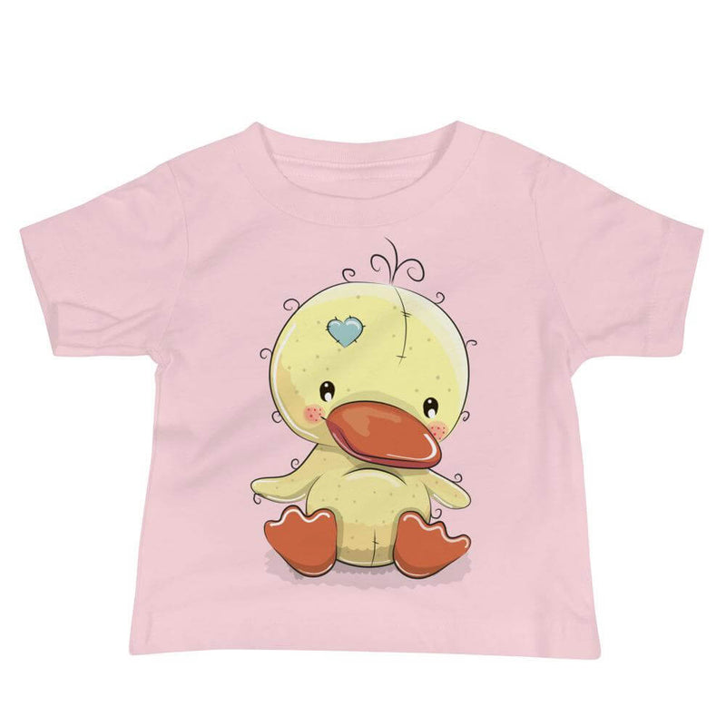 Baby's Cute and Cuddly Duckling Crew Neck T-shirt - Pink