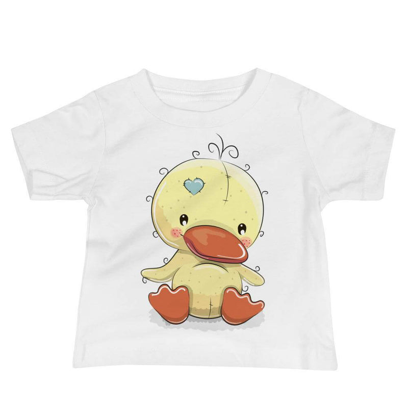 Baby's Cute and Cuddly Duckling Crew Neck T-shirt - White