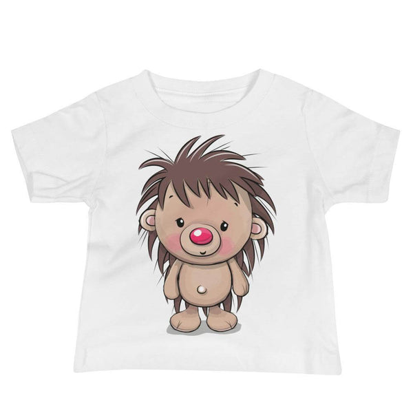 Baby's Cute and Cuddly Hedgehog Crew Neck T-shirt - White