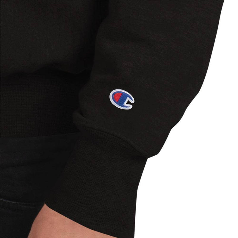 Champion | Men's European Robin in Winter Tale Sweatshirt - Black - Logo
