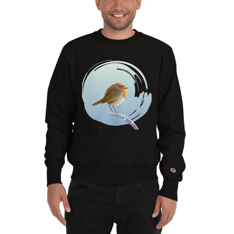 Champion | Men's European Robin in Winter Tale Sweatshirt - Black