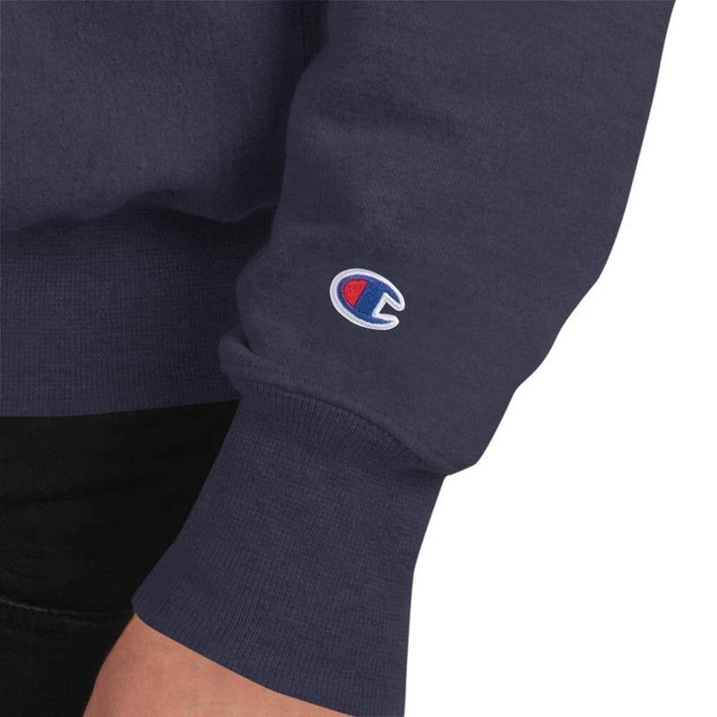 Champion | Men's European Robin in Winter Tale Sweatshirt - Team Navy - Logo