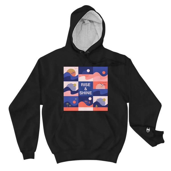 Champion - Men's Rise and Shine Hoodie - Black