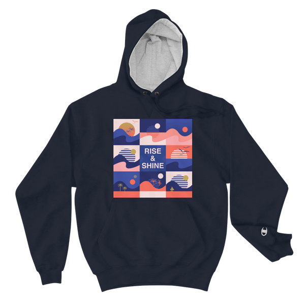 Champion - Men's Rise and Shine Hoodie - Navy