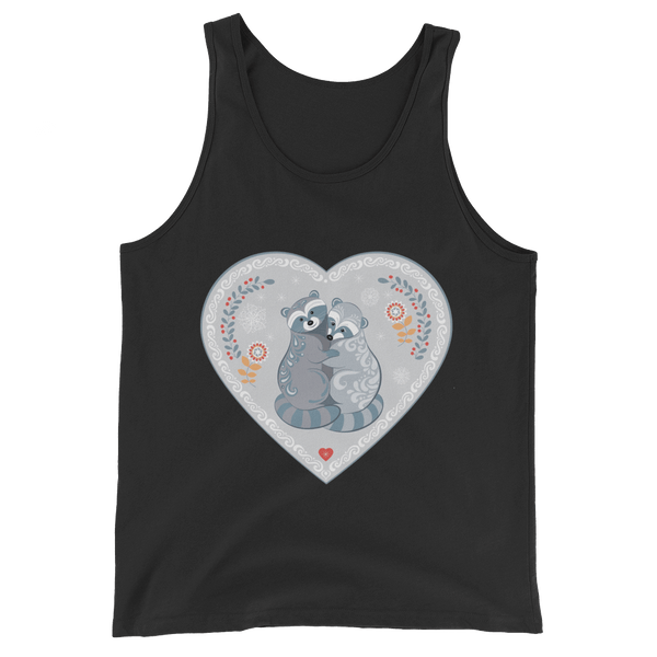 Raccoons Tank Top inspiring Love - Black